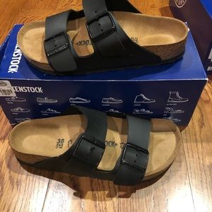 Birkenstock Arizona black 7 medium new
